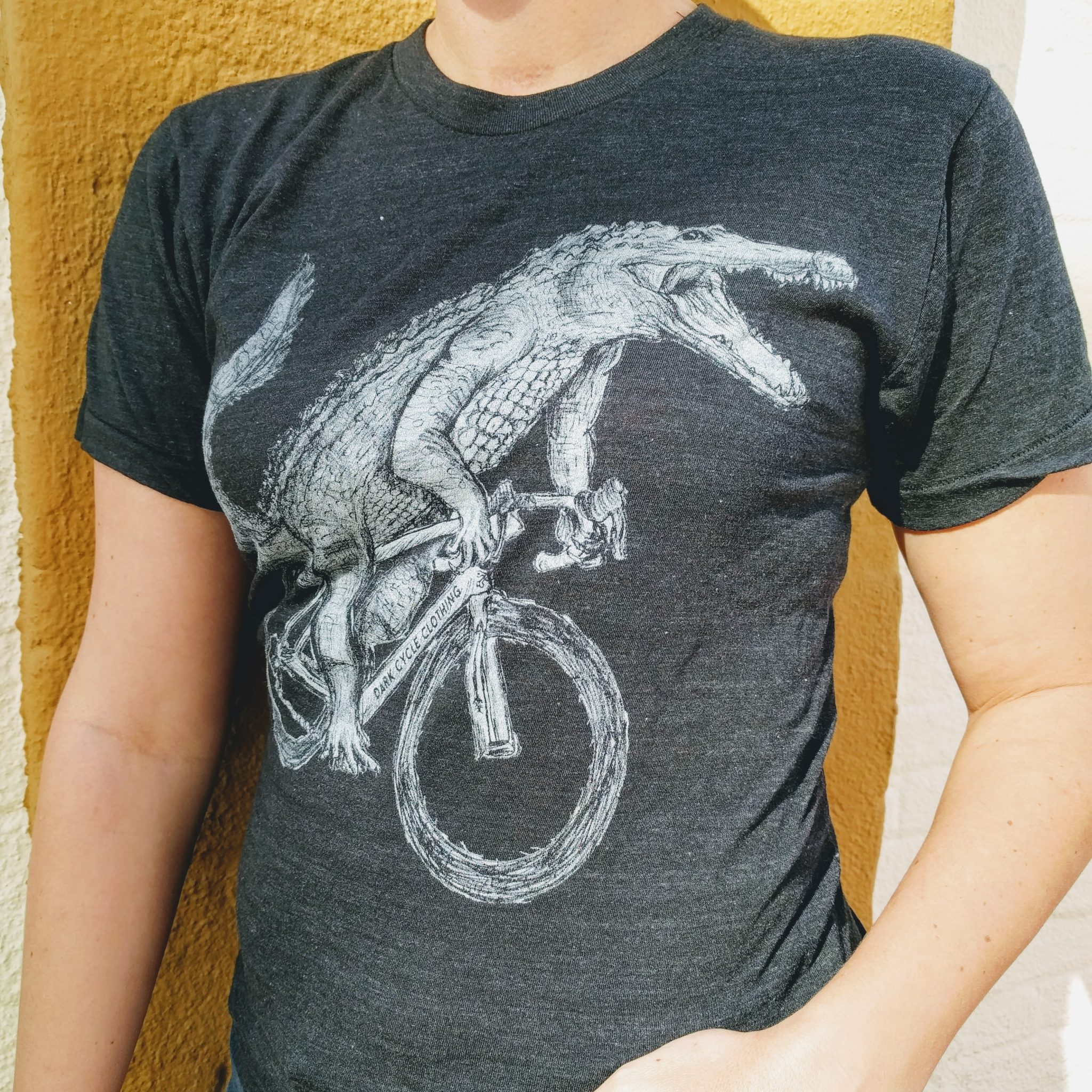 Gator on a Bicycle Dark Cycle Clothing