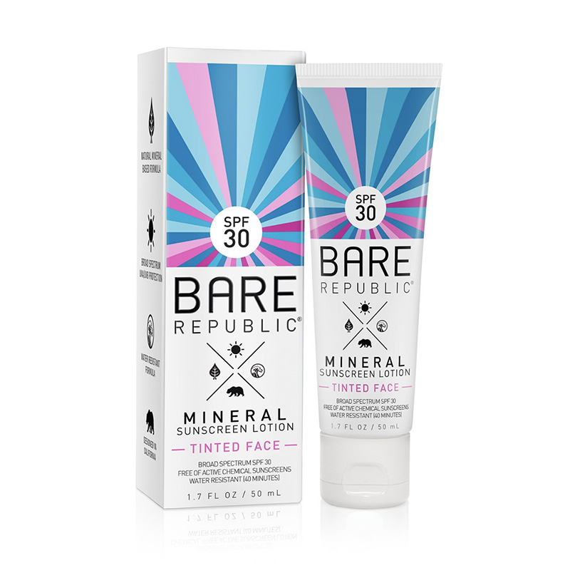 Mineral SPPF 30 Tinted Face Sunscreen Bare Republic