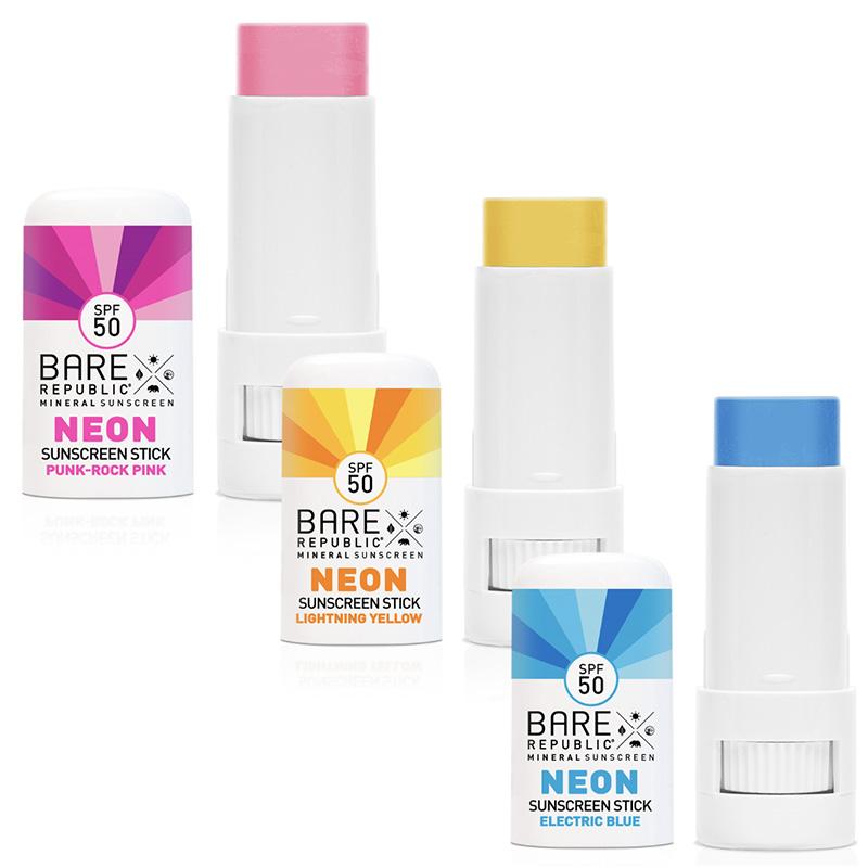Bare Republic SPF50 Neon Sunscreen Zinc Mineral