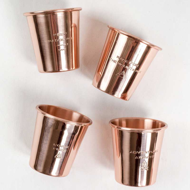 Copper Shot Glass Set by United By Blue