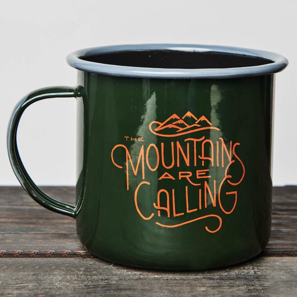 United By Blue Enamel Mug Mountains Are Calling