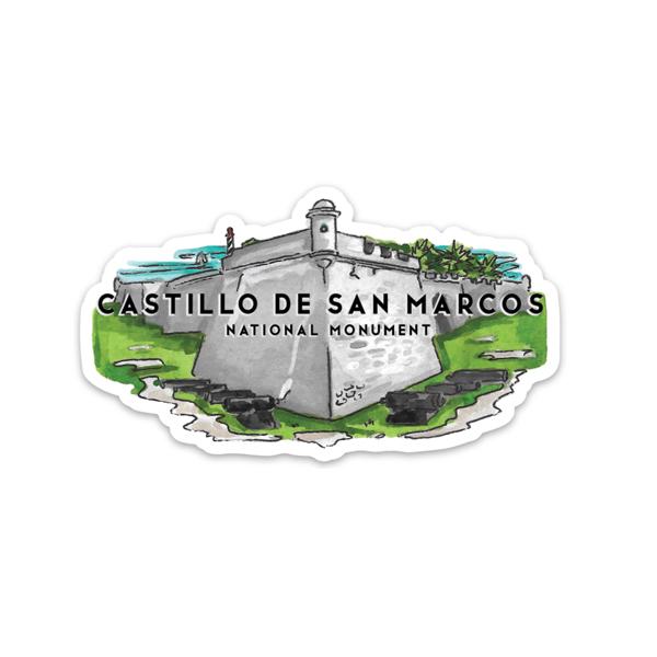 Castillo de San marcos national monument sticker Jelly Press Florida